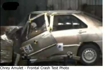 Crash Test Photo of Chery Amulet